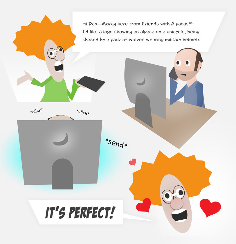 Dan Gould Graphic Design Process Cartoon