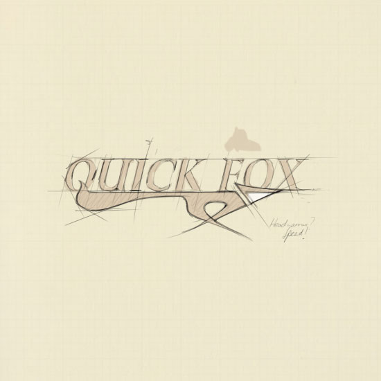 Quick Fox Logo Sketch