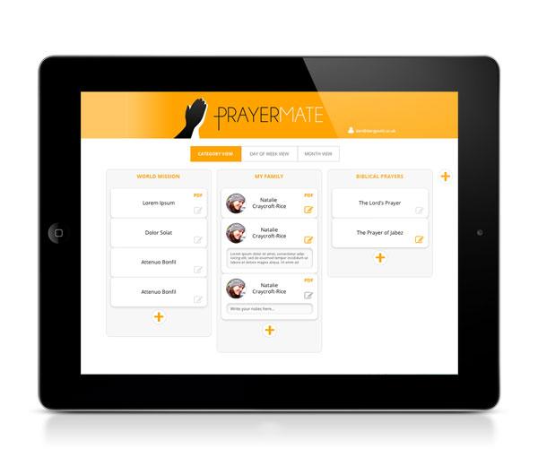 PrayerMate iPad UI