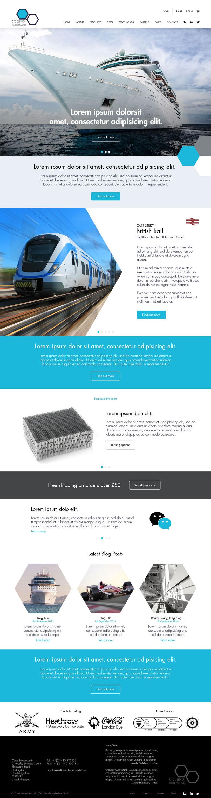 Corex Honeycomb Website