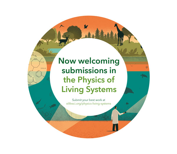 eLife's 'Physics of Living Systems' Adverts